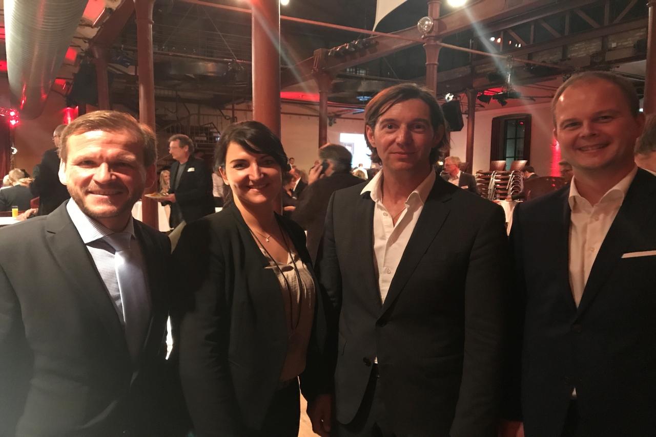 Elmar Niederhaus, Inga Knoche, Dr. Carl Naughton und Nico Lüdemann beim BVMW Forum Führung 2017