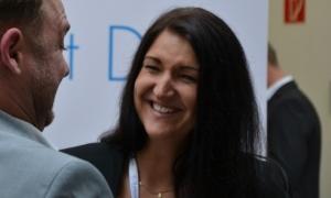 Immer Spaß beim Netzwerken - Inga im Gespräch auf der CIM 2017