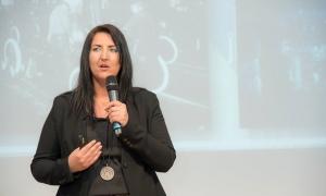 Inga Knoche auf dem Wirtschaftsforum in Düsseldorf 2017